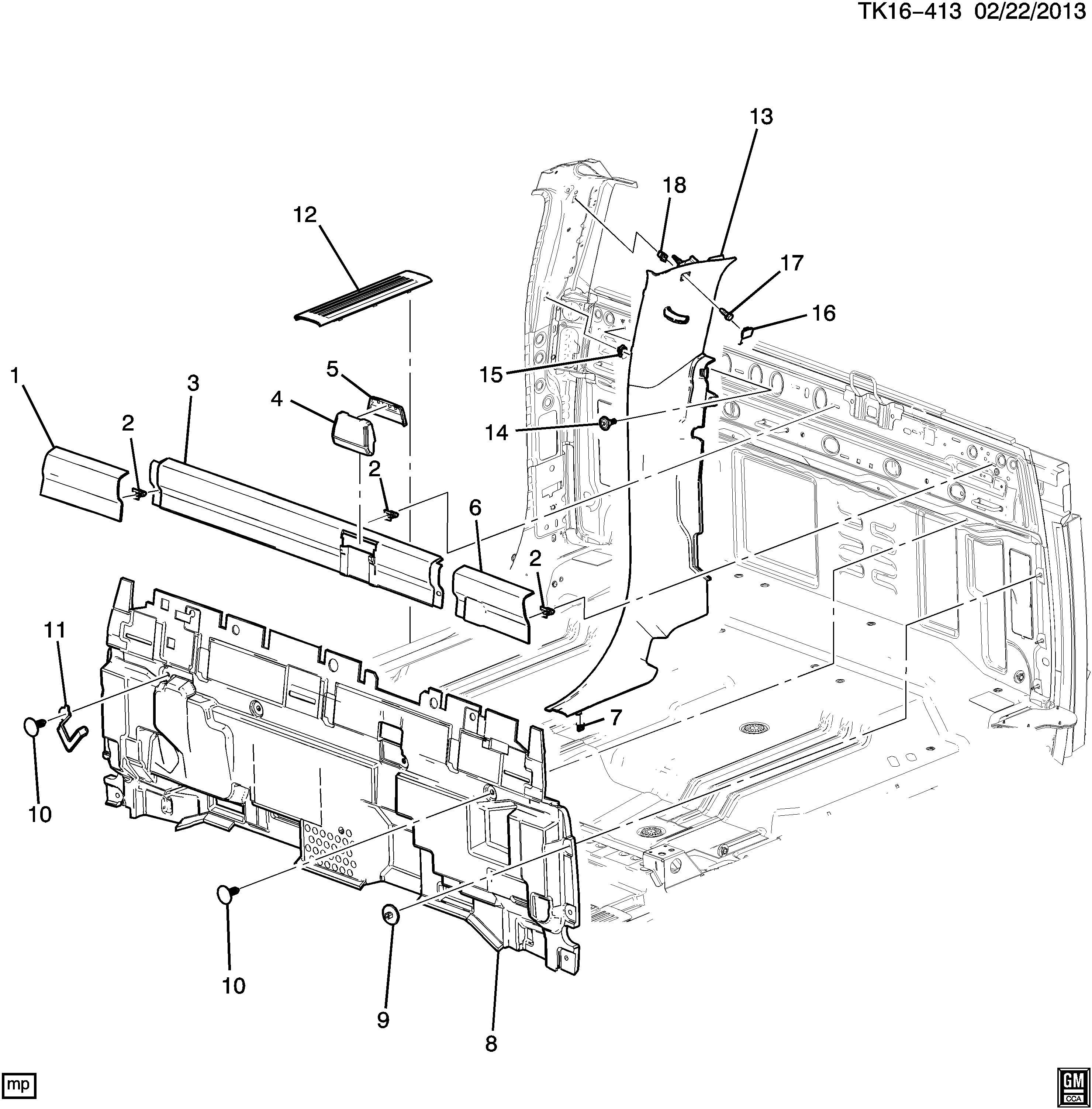 Chevrolet Silverado Cover Seat Belt Cover F Seat Belt