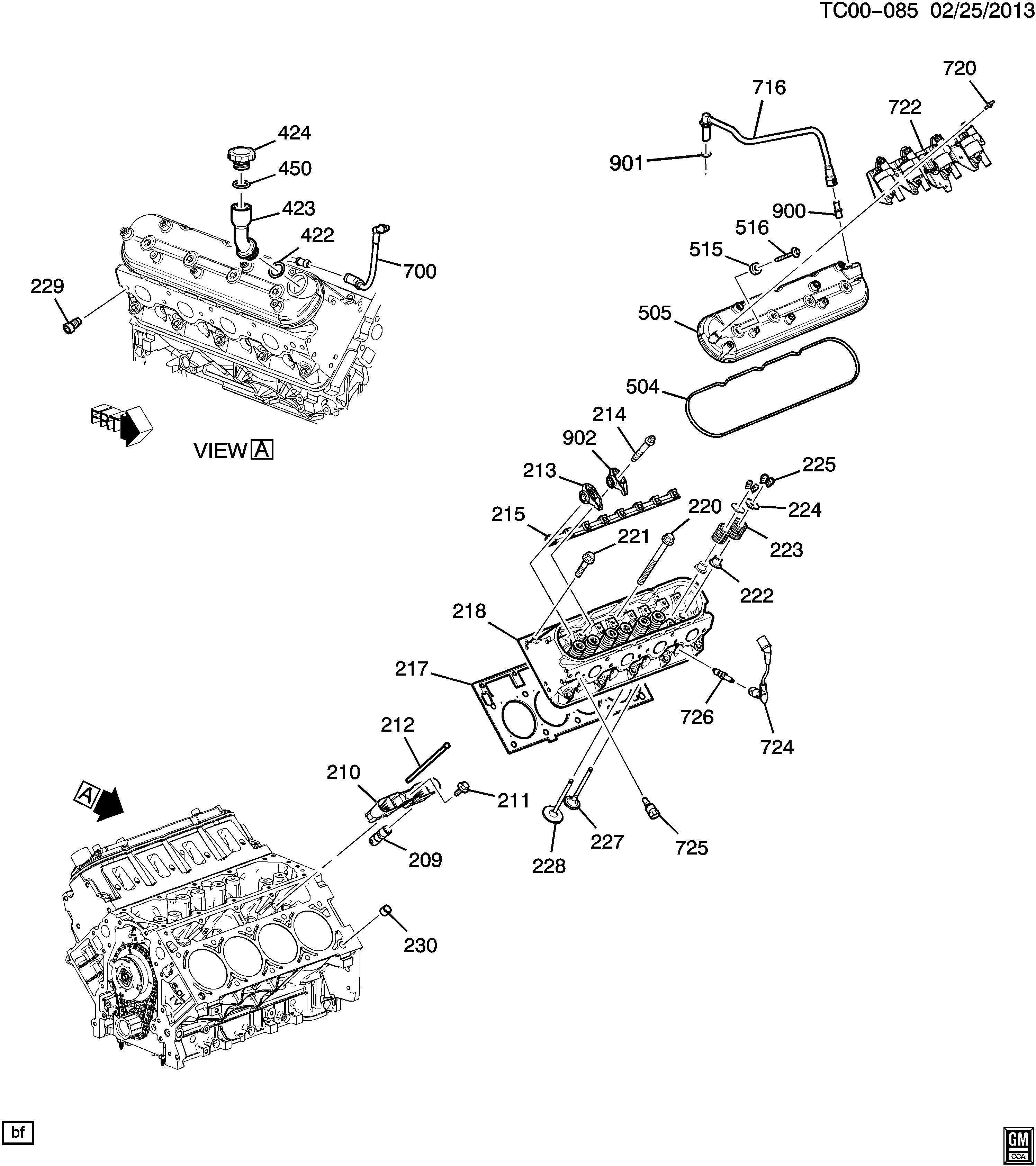 Chevrolet Silverado Tube Engine Crankcase Ventilation