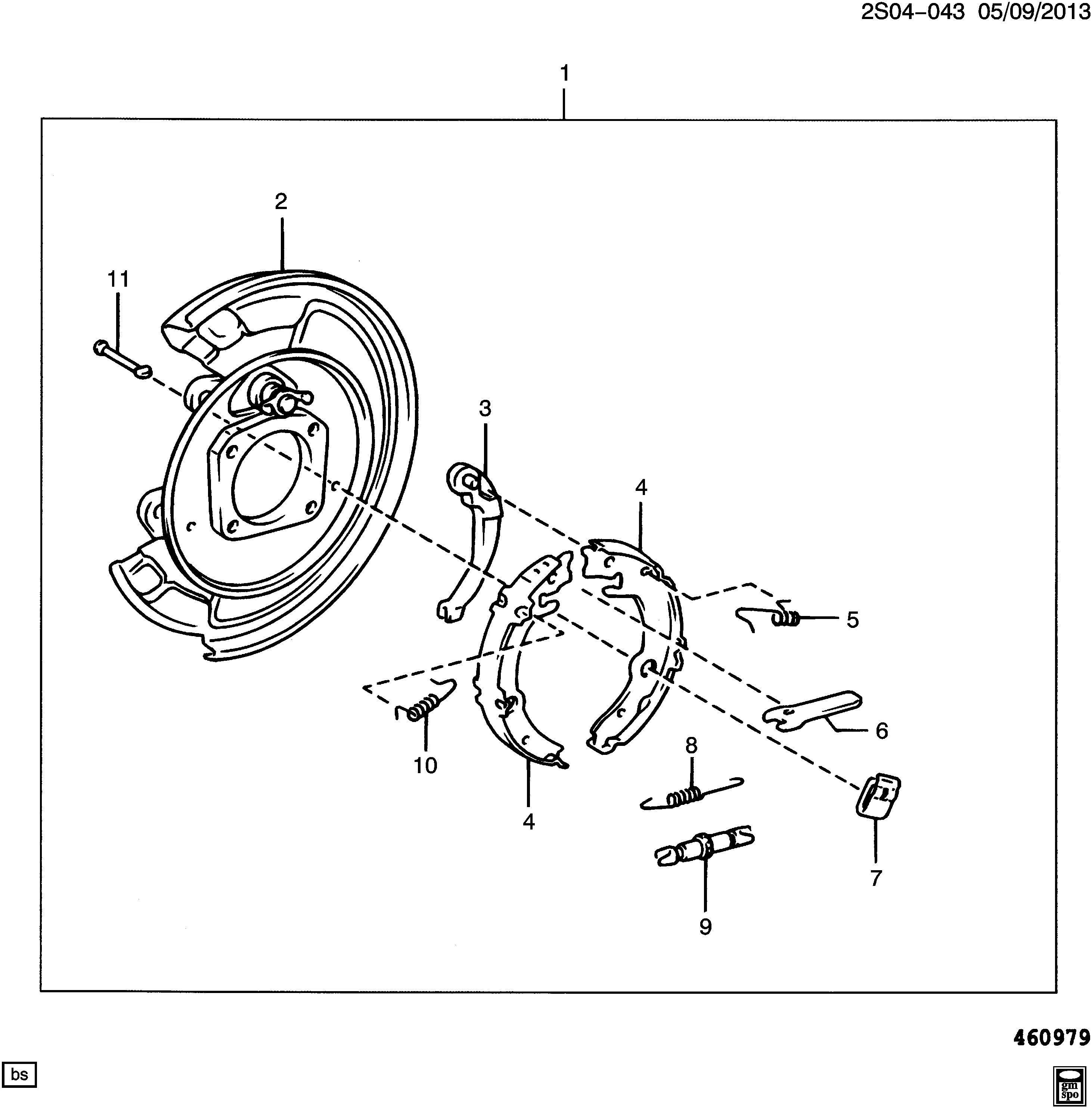 2009 Pontiac Vibe Plate. Brake flange/backing. Plate, rr