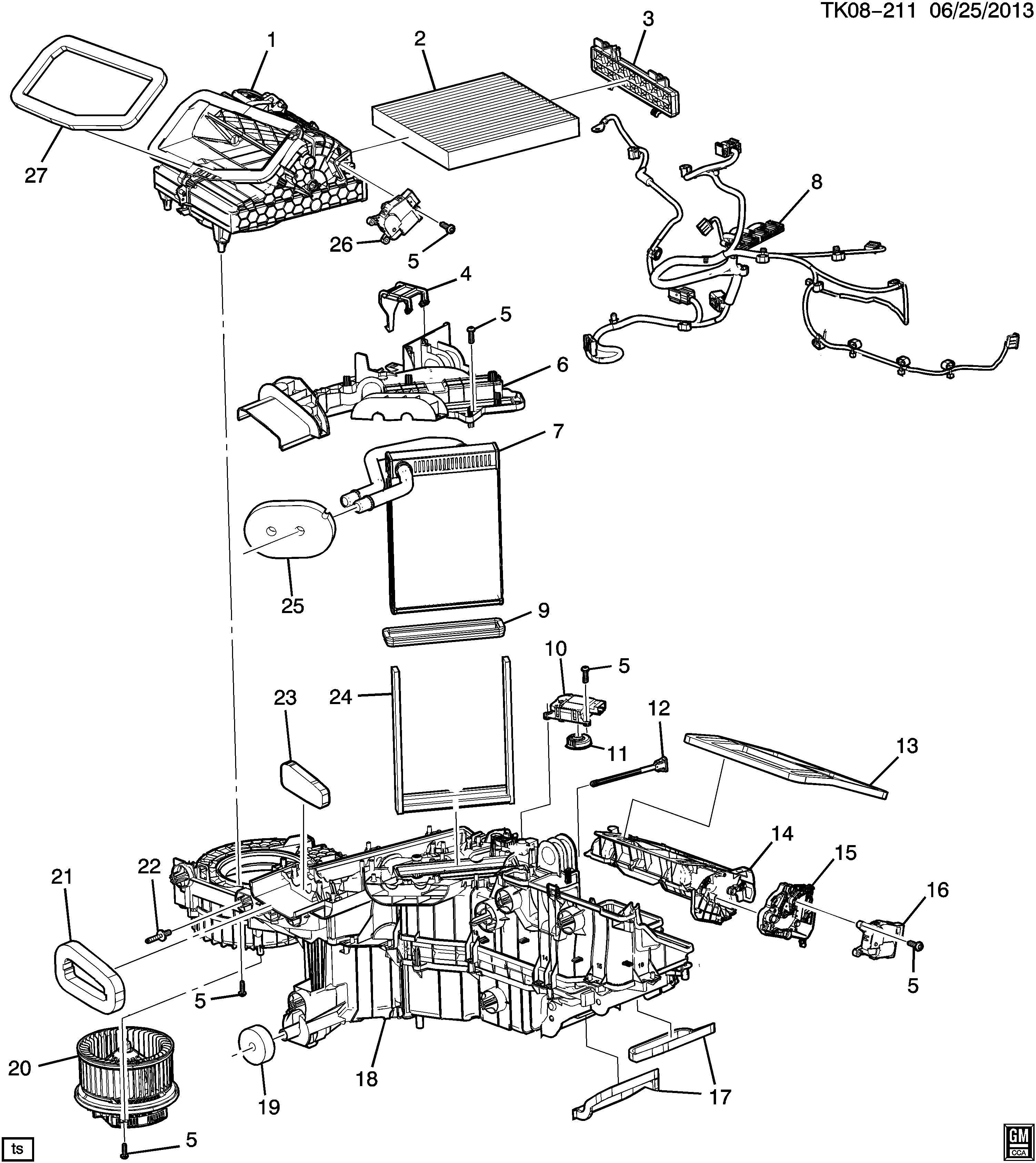 Chevrolet Silverado Actuator Air Conditioning A C