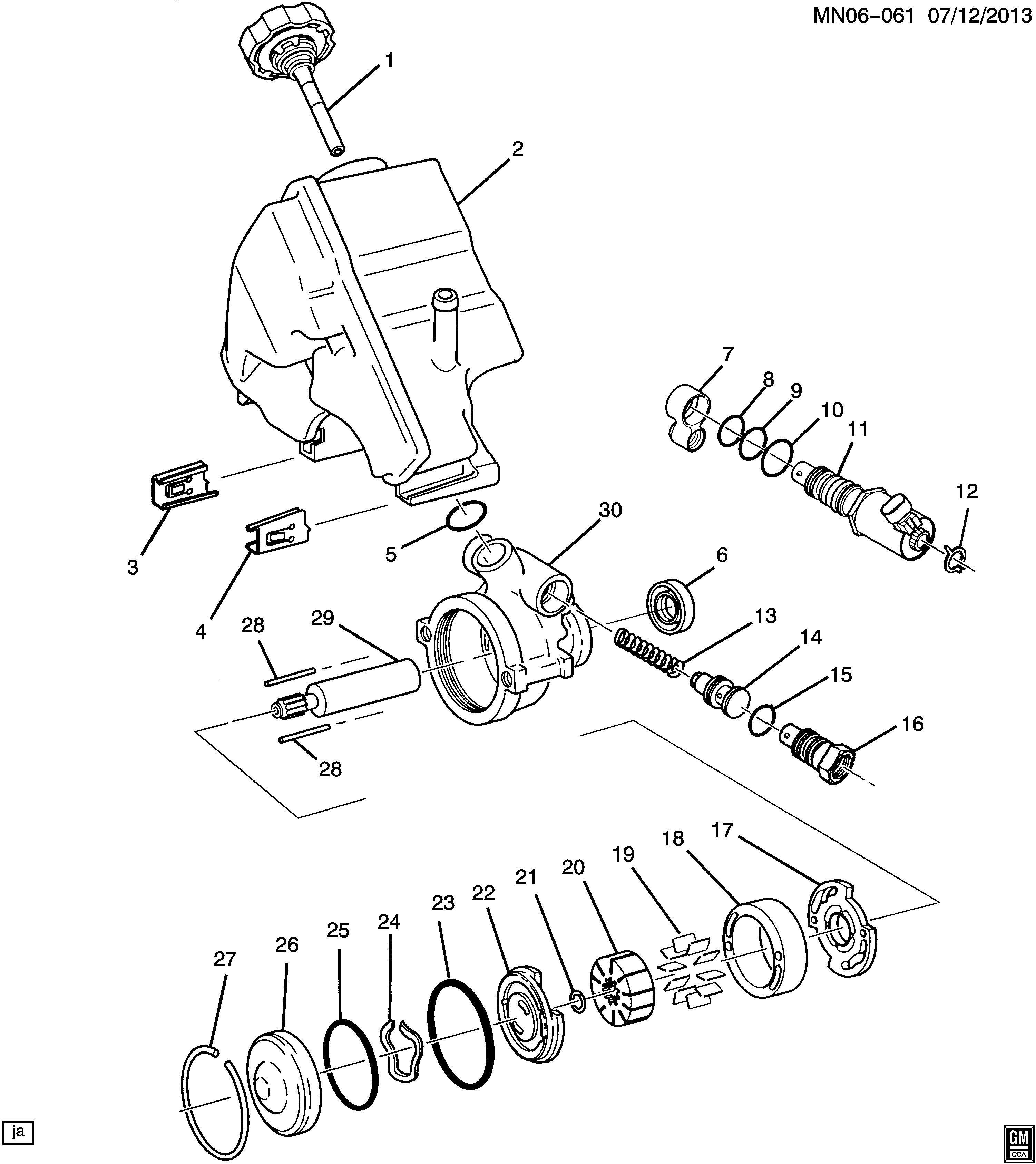 2000 Oldsmobile Alero Actuator. Steering pump control