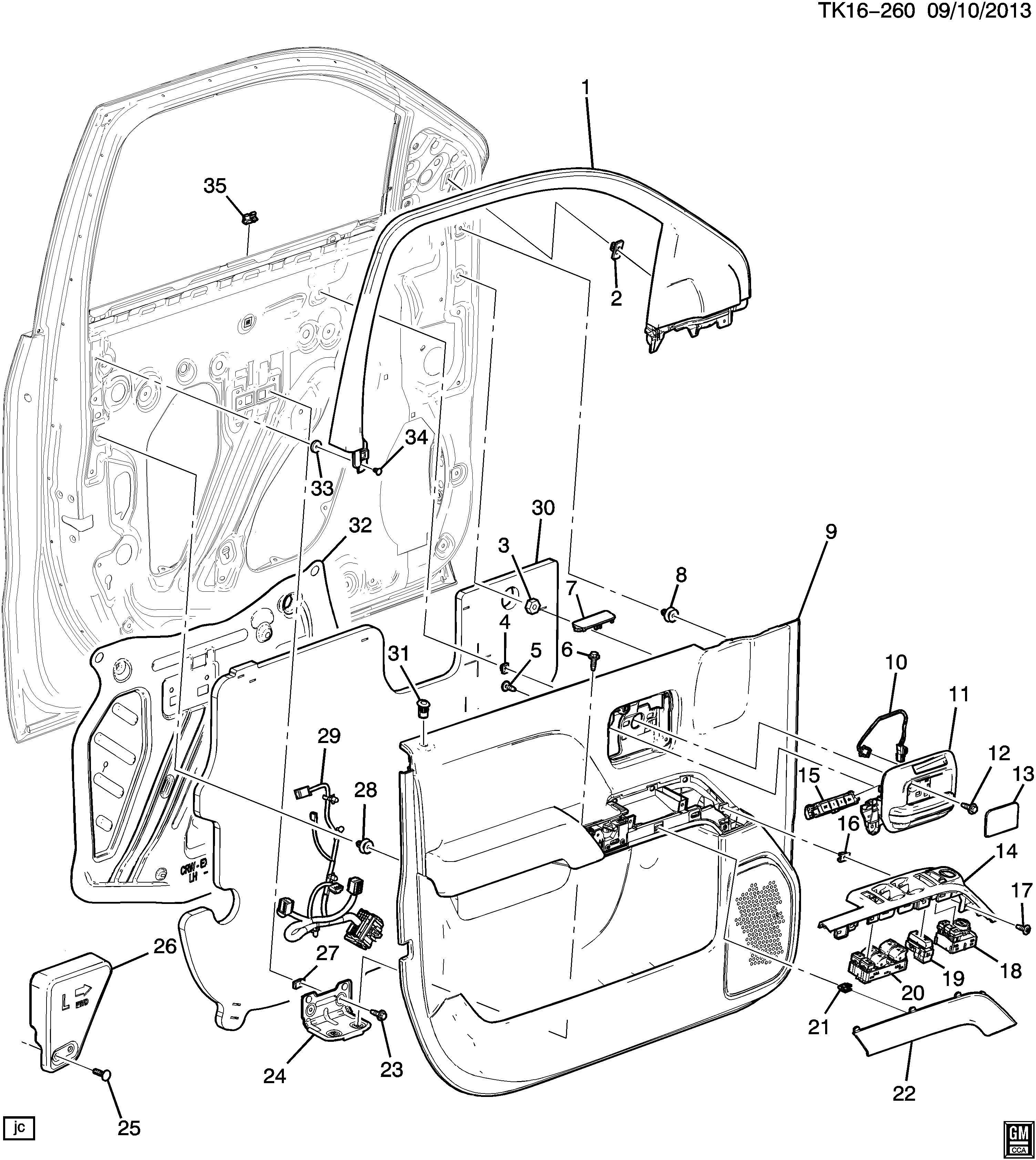 Chevrolet Silverado Trim. Armrest. Trim, frt s/d a/rst cvr