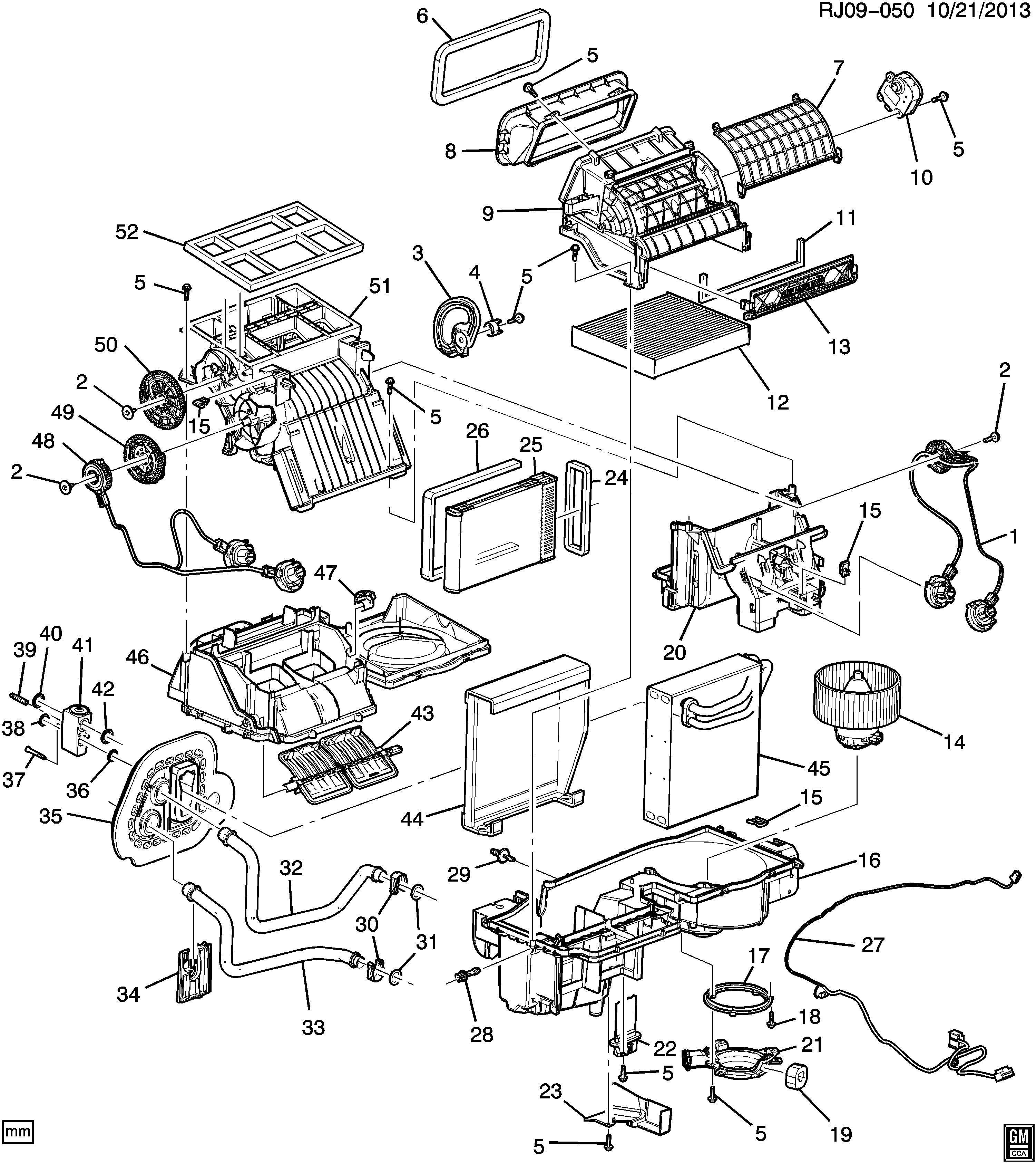 Chevrolet Trax A/C & HEATER MODULE ASM