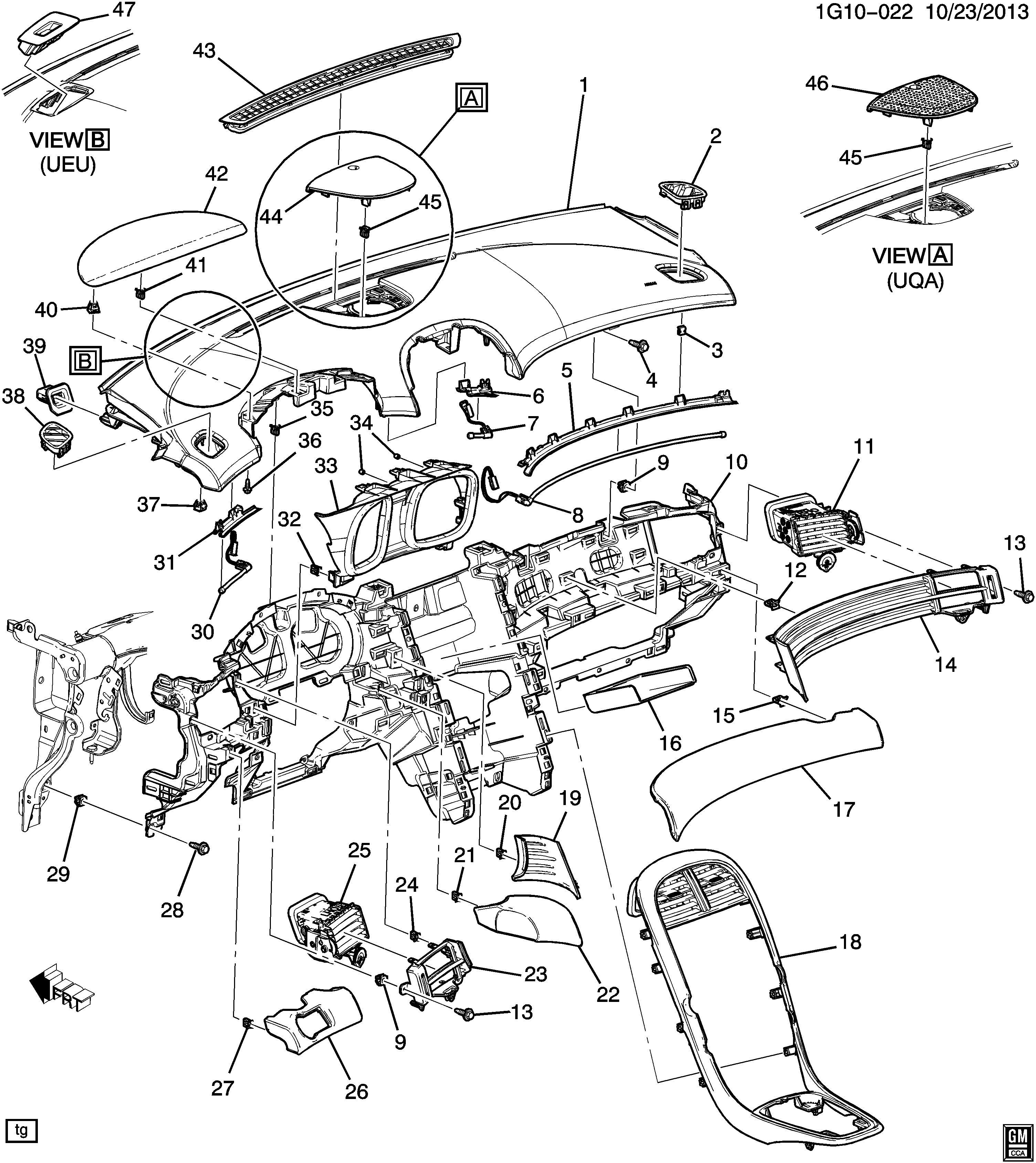 Chevrolet Malibu Instrument Panel Trim Panel (Lower