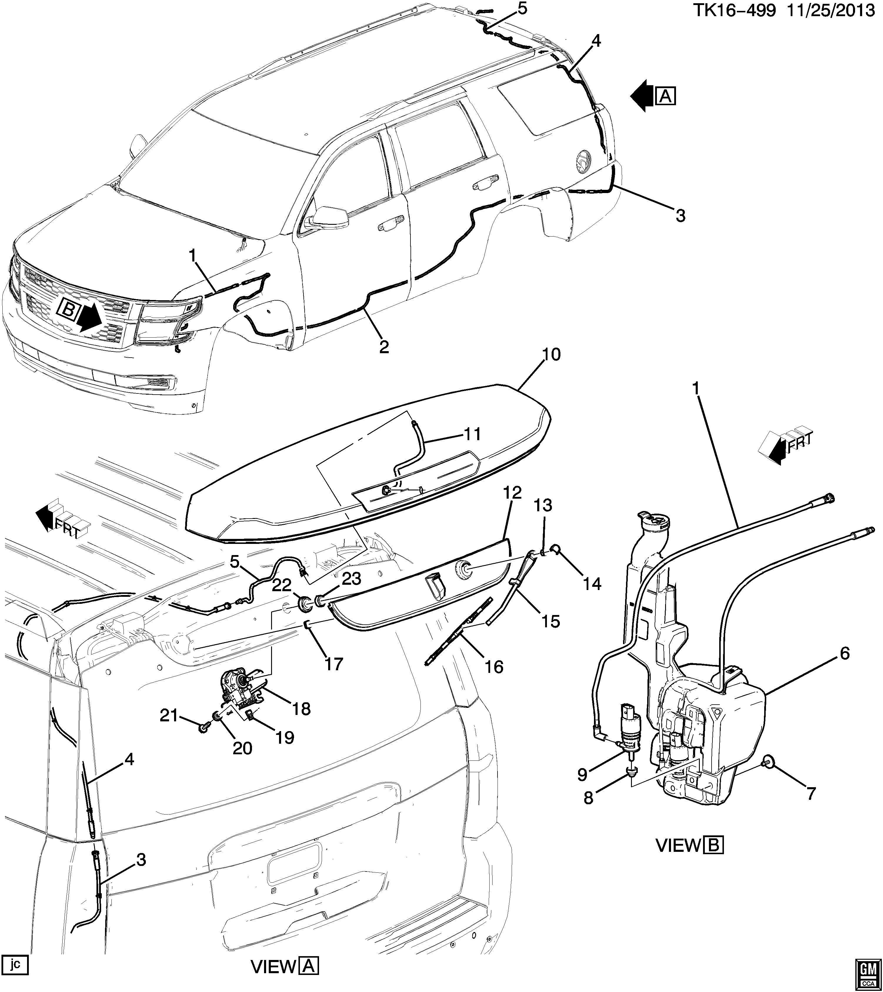 Chevrolet Tahoe Base 4dr Motor Rear Window Wiper