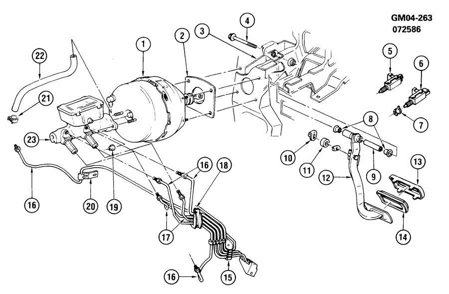 Pontiac Bonneville Hydraulic Brake Pipe. FITTING. NUT
