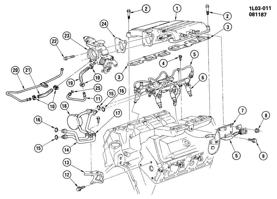 1988 Chevrolet Corsica FUEL INJECTION SYSTEM-2.8L V6