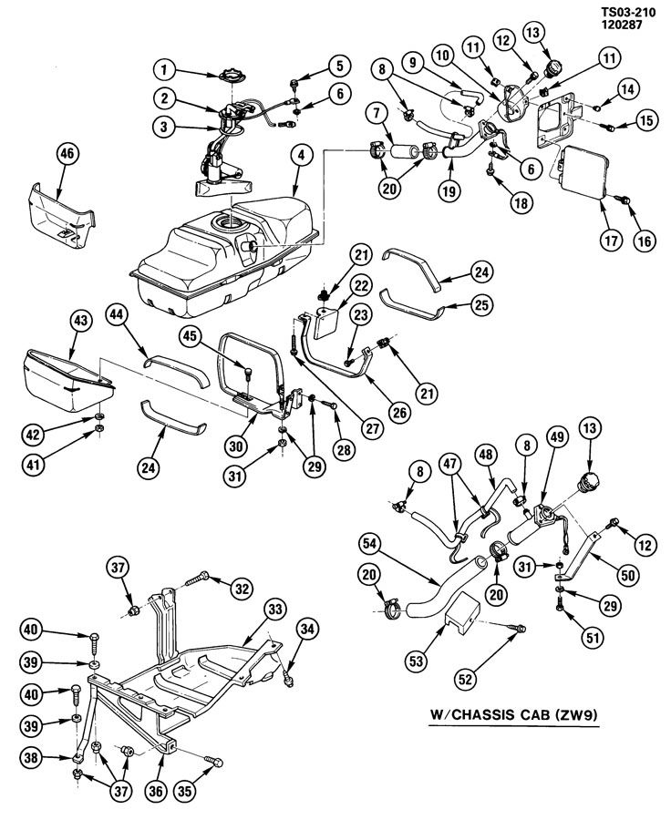 1988 Chevrolet S10 Tank. Fuel. Tank, fuel(13 gal, 49 liter