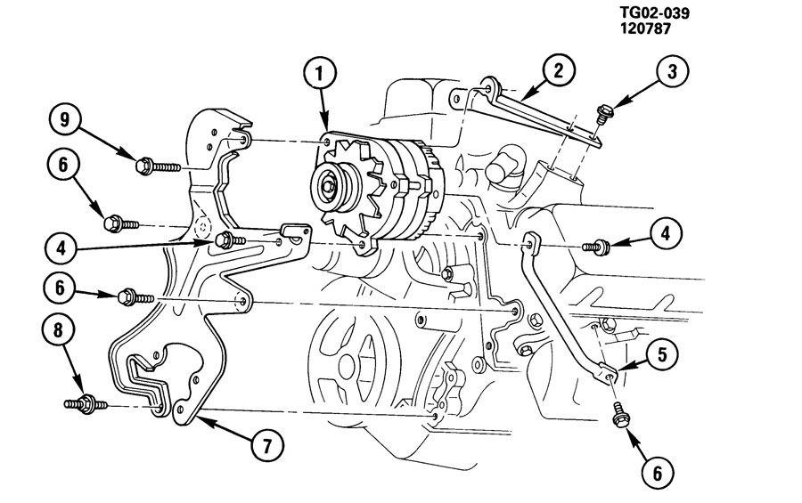 1985 Chevrolet Corvette Bolt. Brake pedal. Generator