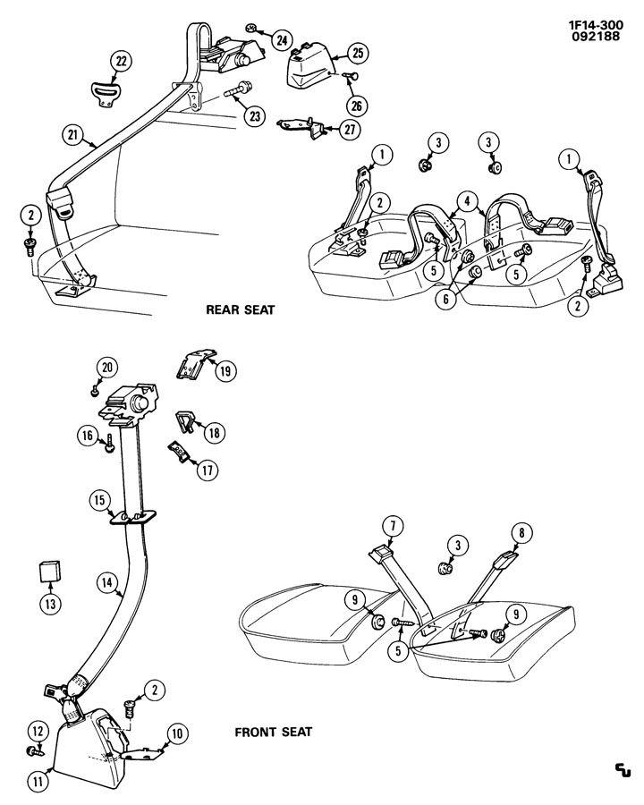 1988 Chevrolet Camaro SEAT BELTS