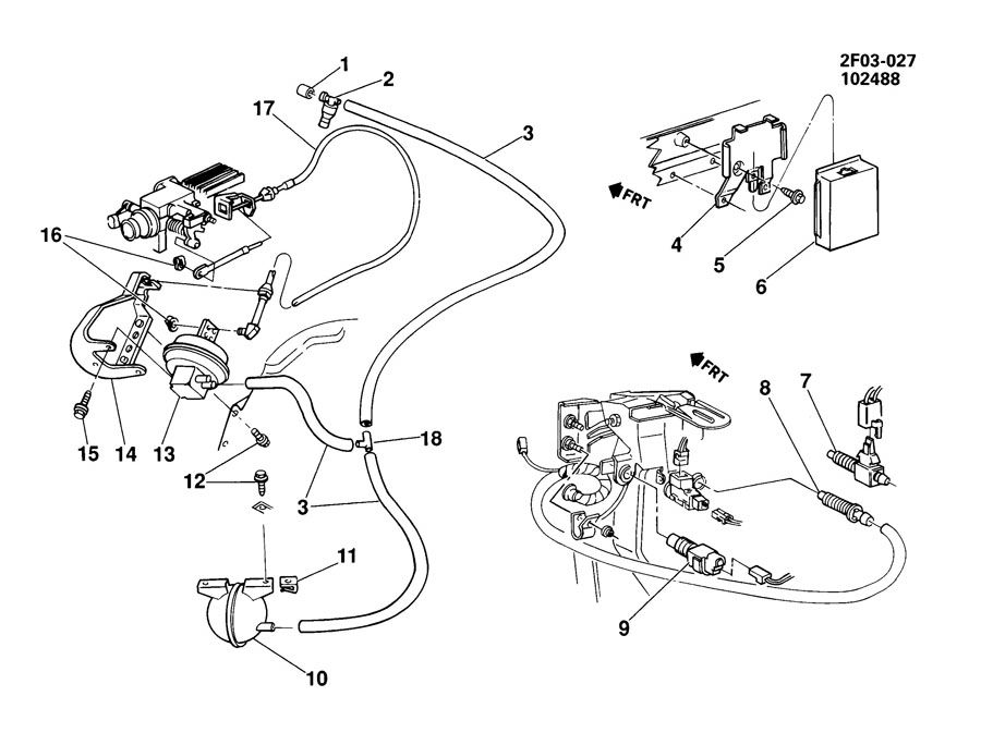 Chevrolet S10 Retainer. Accelerator control. Clip. Cruise