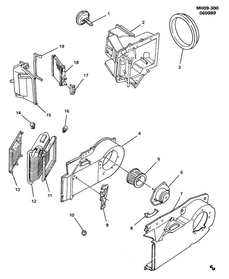 Buick Lesabre Actuator. Air conditioning (a/c) control