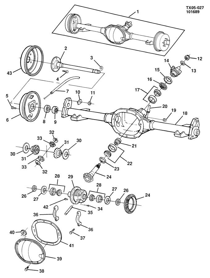 Oldsmobile BRAVADA Connector. Front axle and axle center