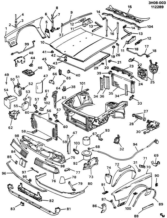 1987 Oldsmobile Delta 88 Cap. Engine coolant recovery. Cap