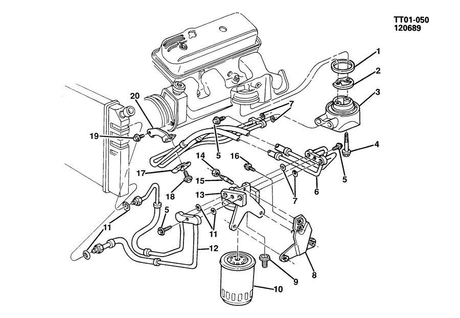 1993 GMC TYPHOON Hose. Engine oil cooler. Hose, eng oil