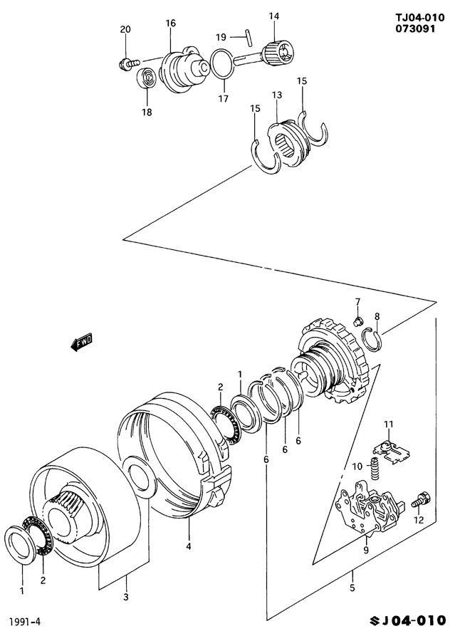1996 Geo Tracker Seal. Speedometer driven gear. Seal