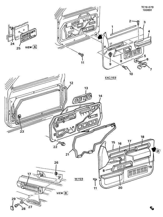 Chevrolet K1500 Armrest. Armrest. Armrest, frt s/d(saddle