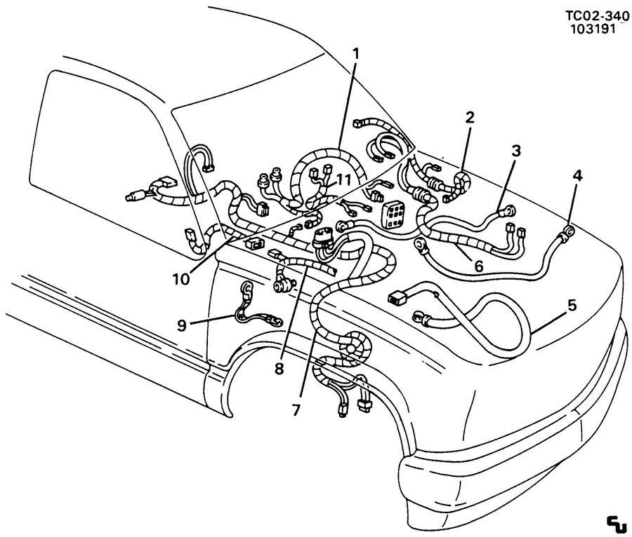 Chevrolet K1500 Battery Negative and Engine Ground. STRAP