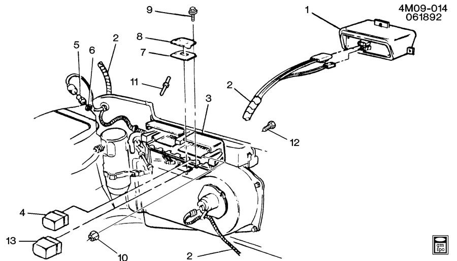 Buick Park Avenue Bracket; connector; module; relay; relay