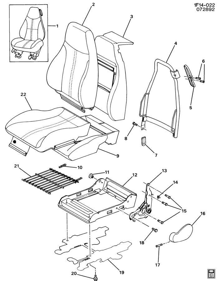 Chevrolet Camaro Guide. Seat belt. Guide, d/seat shldr