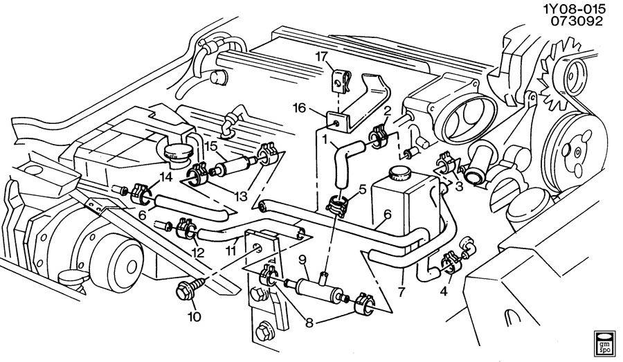 1994 Chevrolet Corvette Valve. Heater coolant flow. Valve