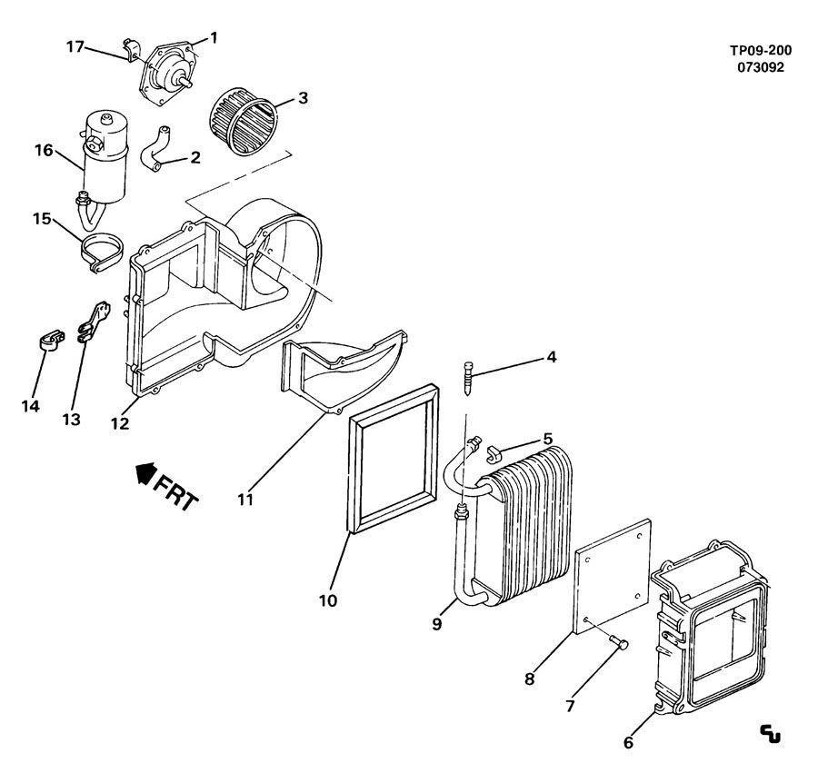 Chevrolet Cavalier Impeller. Air conditioning (a/c