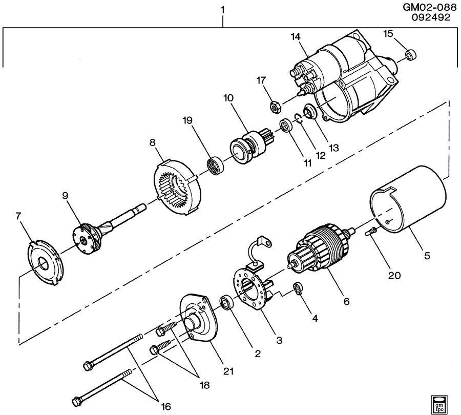 Chevrolet Impala Starter. Starter motor