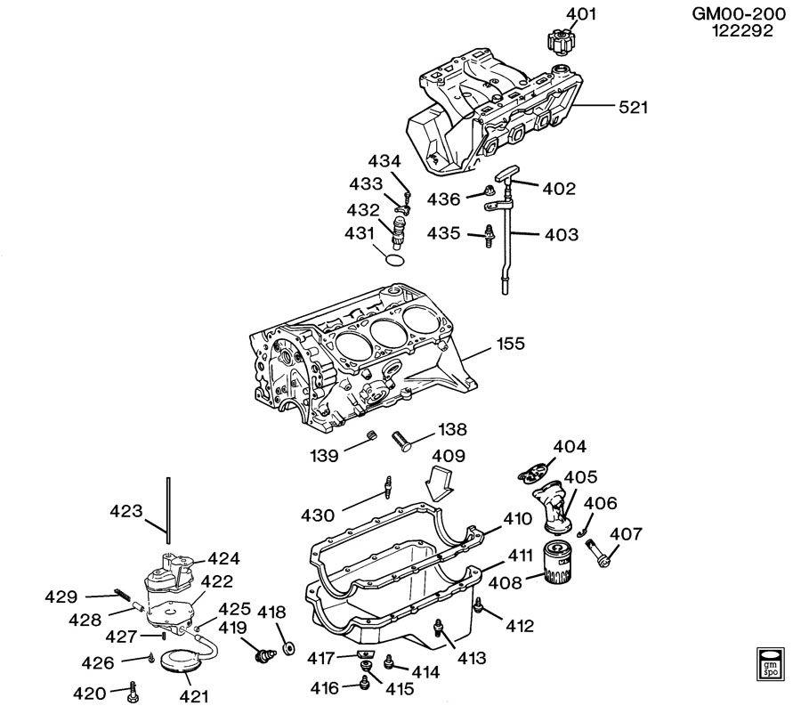 Chevrolet Cavalier Valve. Engine oil pressure. Valve, oil