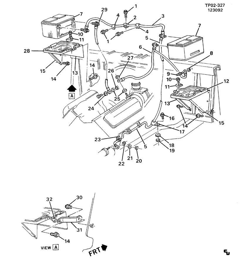 Chevrolet G20 Tray. Battery. Traybatwsupt, traybatwsupport