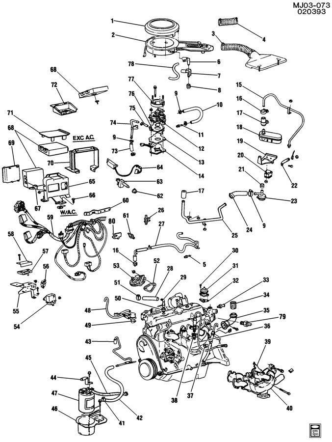 Chevrolet Cavalier Module. Emission control system