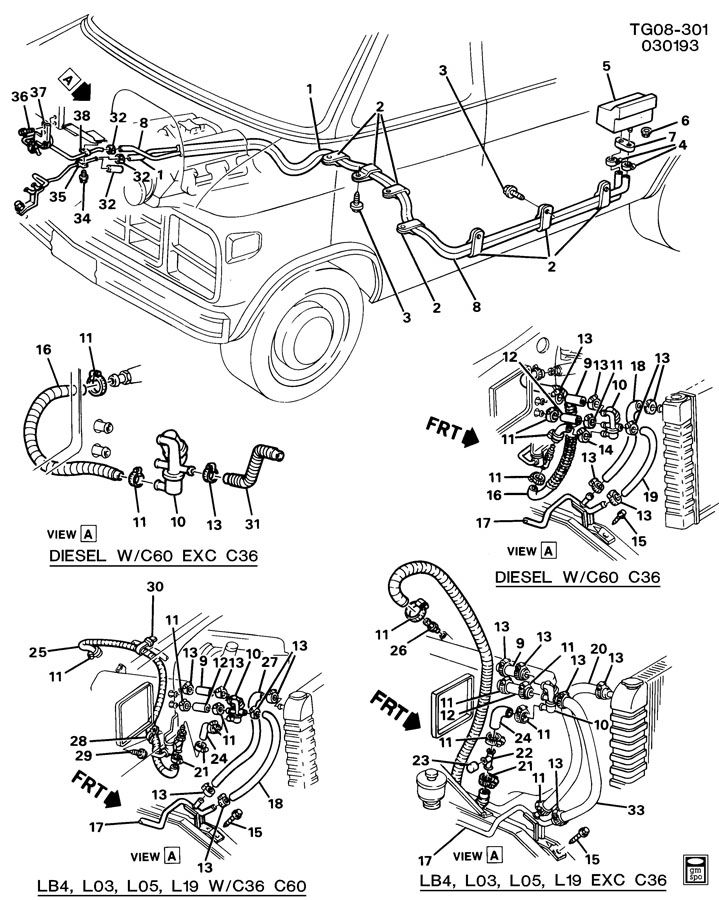 HEATER SYSTEM/REAR; HOSES & PIPES/HEATER