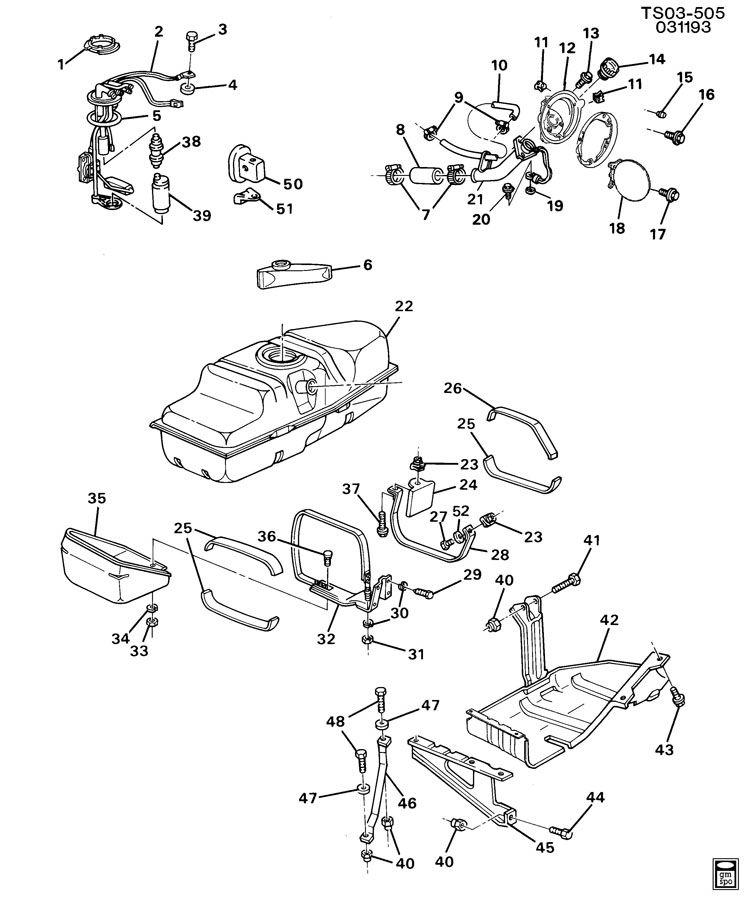 Chevrolet S10 Fuel Filler Neck. Standard & extended cab