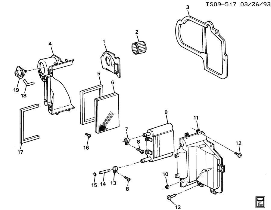 1999 Chevrolet BLAZER Case. Air conditioning (a/c