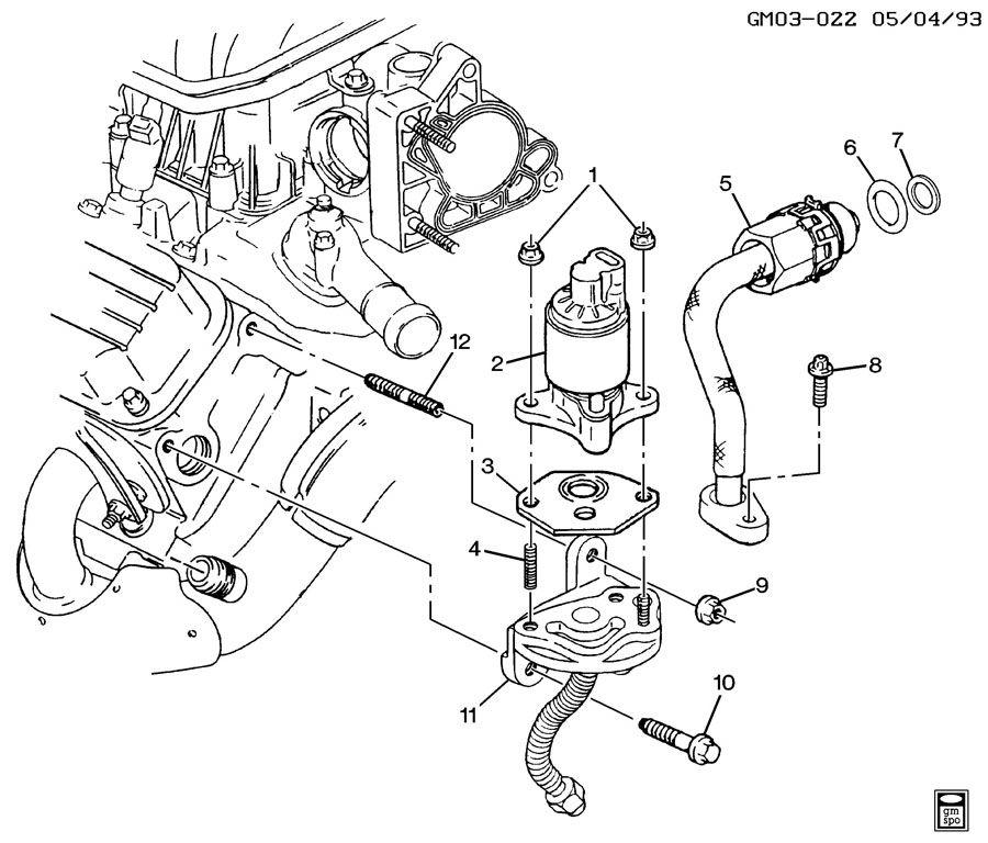 Pontiac Bonneville E.G.R. VALVE & RELATED PARTS-V6 3.8L