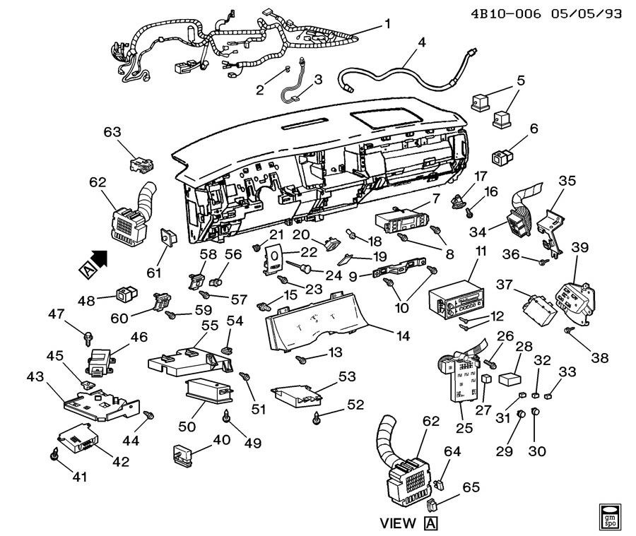 1983 Chevrolet S10 INSTRUMENT PANEL PART 2