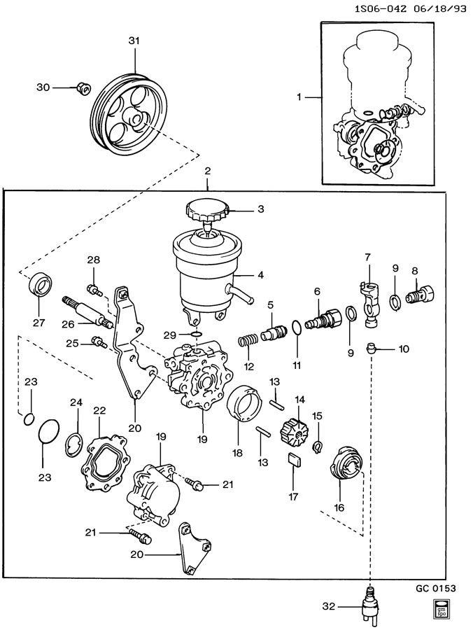 Geo Prizm Rotor. Steering pump. Rotor, p/s pump(stamped: 3