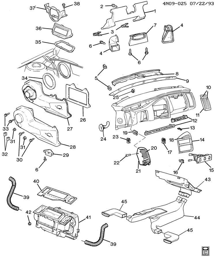 Buick Skylark Plate. Instrument panel trim. Plate, i/p