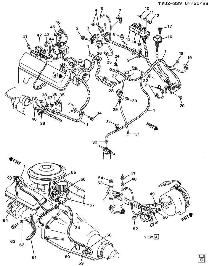 Chevrolet P30 Wiring Harness Connector. 4.3 LITER