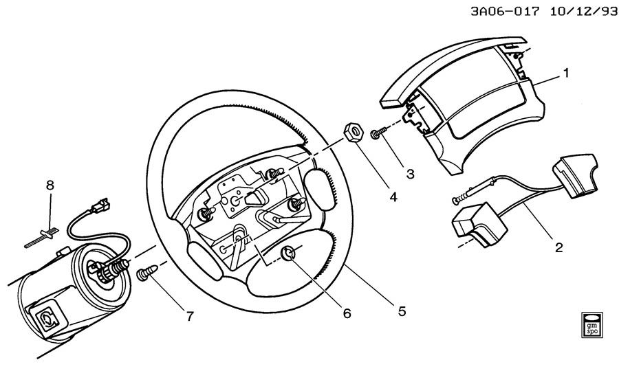 1994 Oldsmobile Cutlass Ciera Switch. Horn button. Switch