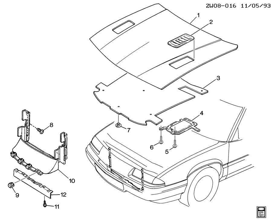 Pontiac Grand Prix Deflector. Radiator air. Deflector, rad