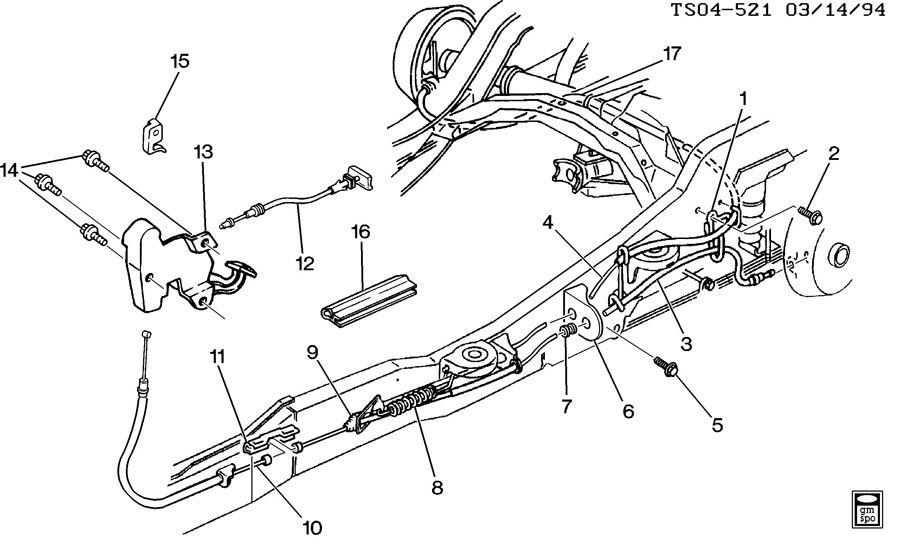 Chevrolet S10 Switch. Parking brake indicator. Switchpark