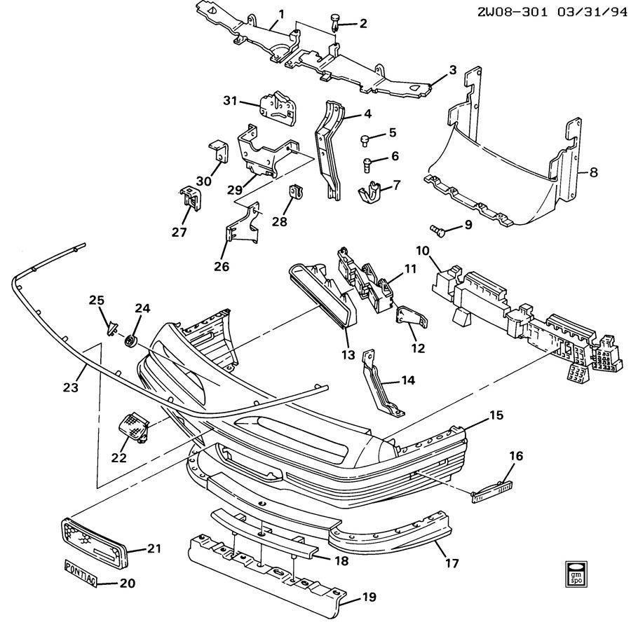 Pontiac Grand Prix Grille. Radiator grille. Grille, frt(w