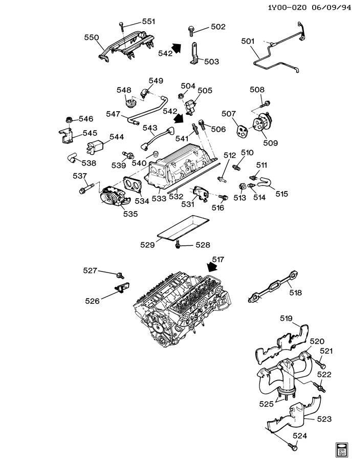 Chevrolet Corvette Hose. Engine crankcase ventilation
