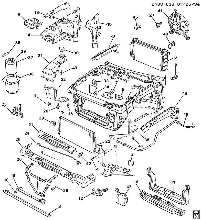 Pontiac Grand Am Bar. Radiator and front end tie. Barfend
