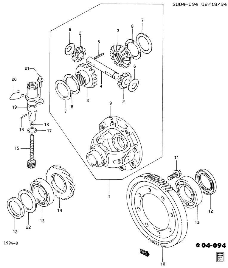 Geo Metro Seal. Speedometer driven gear. Sealspeedo, slevo