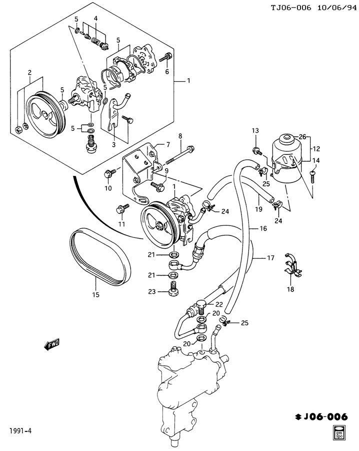 Geo Tracker Bolt. Carburetor to manifold. Engine oil pan