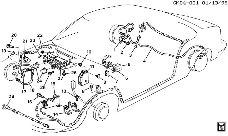 1994 Buick Lesabre BRAKE SYSTEM/ANTILOCK