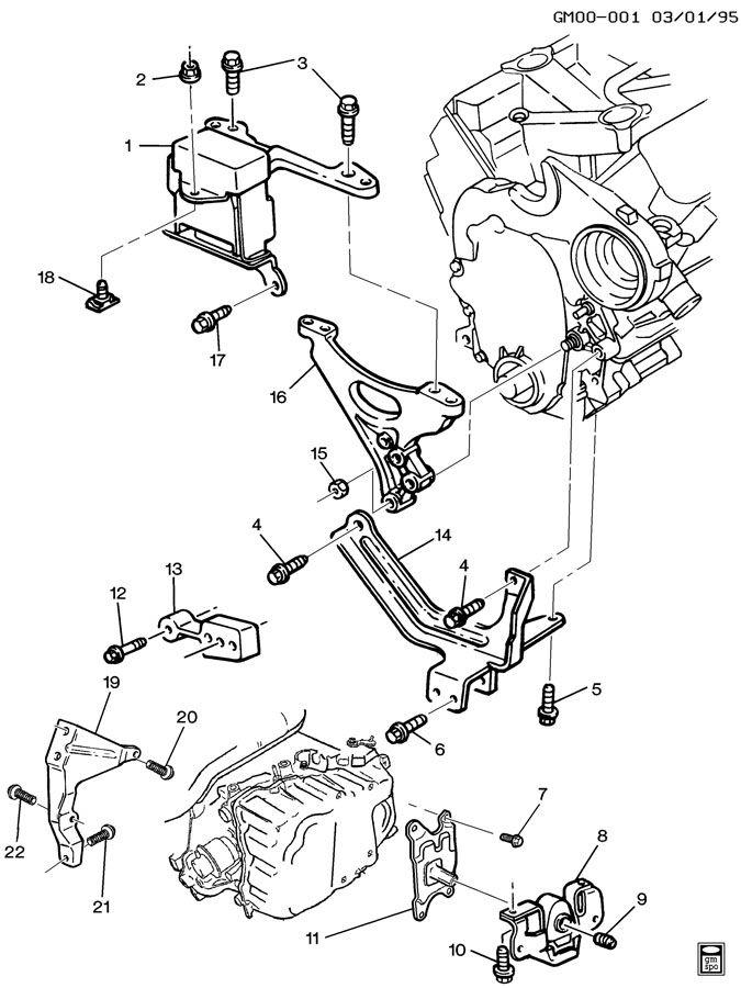 ENGINE & TRANSMISSION MOUNTING-V6-3.1L