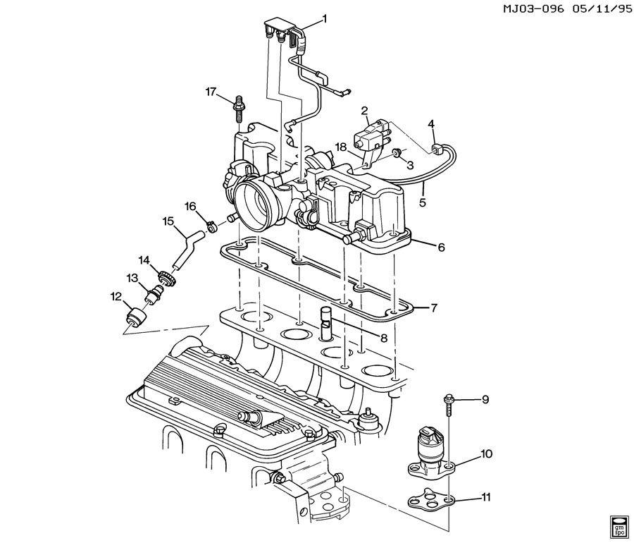 Chevrolet Cavalier Valve. Emission control system