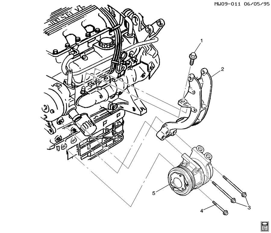 Chevrolet Impala Bolt. Air conditioning (a/c) compressor